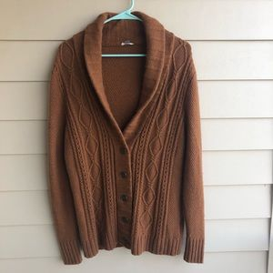 Fossil wool boyfriend cardigan sweater